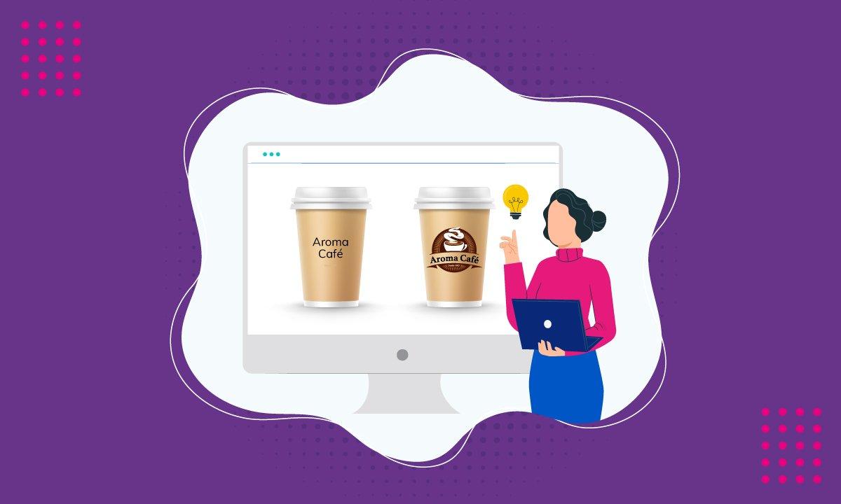 Ilustración de dos cafés